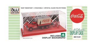 "Acrylic Display Case (Interchangeable Inserts) ""Coca-Cola"" - Red Base"