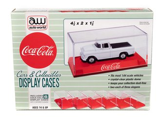 "Acrylic Display Case (6 Pack) ""Coca-Cola"" (Red Base)"