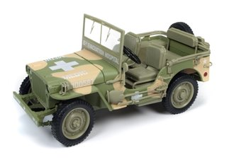 1:18 1941 Jeep Willys (Army Medic Camo)