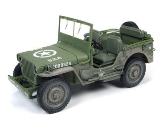 "1:18 1941 Jeep Willys ""WWII"" (Mud Covered/Dirty Olive Drab)"