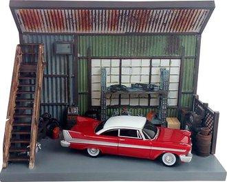 1:64 Christine® - Darnell's Garage Diorama w/1958 Plymouth