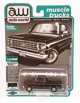 1975 Chevy Silverado 10 Fleetside Pickup Truck (Gloss Black)