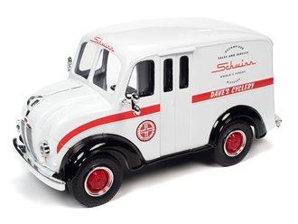 1950 Divco Delivery Schwinn Show Truck (Gloss White w/Gloss Black Fenders & Red Stripe)