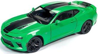 1:18 2017 Chevy Camaro SS (Krypton Green w/Black Metallic Center Stripe)