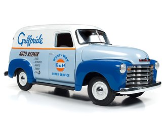 "1:18 1948 Chevy Panel Delivery ""Gulf Oil"" (Blue/White)"