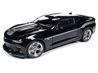 1:18 2018 Chevrolet Camaro Coupe (Yenko) (Mosaic Black w/Silver Stripes)