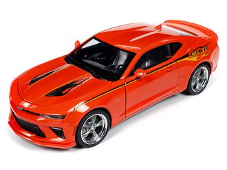 "1:18 2016 Chevy Camaro Hardtop ""MCACN & NICKEY"" (Hugger Orange)"