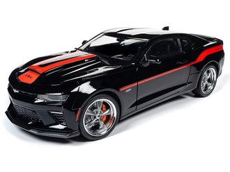 1:18 2018 Chevrolet Camaro Coupe (Yenko) (Mosaic Black w/Orange Stripes)