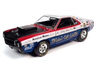 1:18 1969 AMC AMX S/S w/Race Graphics (Red/White/Blue)