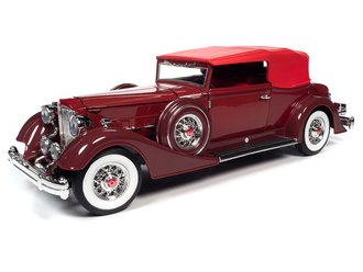 1934 Packard V12 Victoria Soft Top (Red)