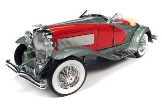 1935 Duesenberg SSJ (Silver Metallic w/Enamel Red Coves)