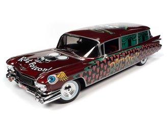 """1:18 1959 Cadillac Eldorado Hearse """"Rat Fink"""" (Black/Red/Green)"""