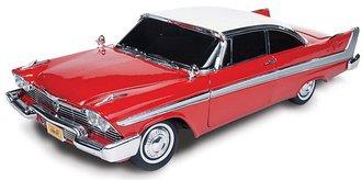 1:18 Christine® 1958 Plymouth (Red/White) w/Dark Tinted Windows