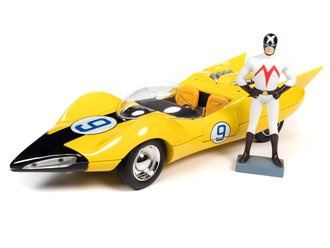 Speed Racer Shooting Star (Yellow) w/Racer X Figure