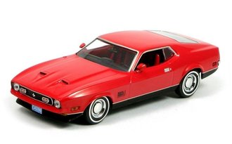 """James Bond 1971 Ford Mustang Mach 1 """"Diamonds Are Forever"""" (Bright Red w/Black Mach 1 Graphics)"""