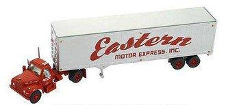 "Mack B w/40' Van Trailer ""Eastern Motor Express"" (Red/Silver)"