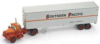 "Mack B w/40' Van Trailer ""Southern Pacific Truck Service"""