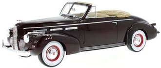 1:18 1940 LaSalle Series 50 Convertible Coupe (Dark Red)