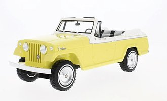 1:18 1970 Jeep Jeepster Commando Convertible (Yellow/White)