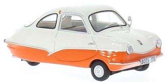 1957 Fuldamobil S7 (White/Orange)