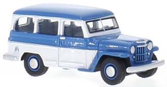 1:87 1954 Willys Jeep Station Wagon (Blue/White)