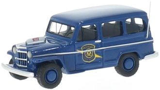 "1:87 1954 Willys Jeep Station Wagon ""Michigan State Police"""