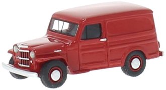 1:87 1954 Willys Jeep Station Wagon (Red)