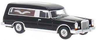 1:87 1969 Mercedes 600 (W100) Pollmann Hearse (Black)