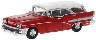 1:87 1958 Buick Century Caballero (Red/White)