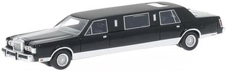 1:87 1985 Cadillac Town Car Stretch Limousine (Black)