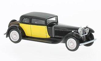 1:87 1929 Bugatti Type 41 Royale by Weymann (Black/Yellow)
