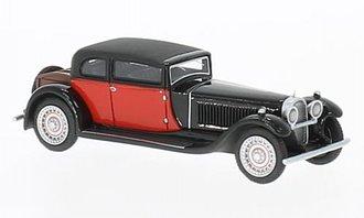 1:87 1929 Bugatti Type 41 Royale by Weymann (Black/Red)