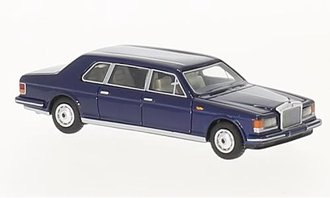 1:87 1985 Rolls-Royce Silver Track II Touring Limousine (Dark Blue)