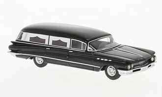 1:87 1960 Buick Flxible Premier Hearse (Black)