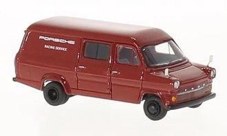 "1:87 1976 Ford Transit Mk. I ""Porsche Racing Service"" (Red)"