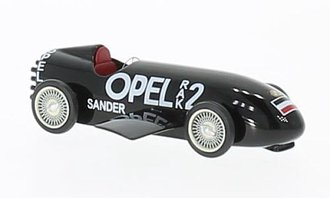 "1:87 1928 Opel RAK2 ""Sander"" (Black)"