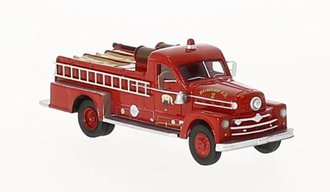 1:87 1958 Seagrave 750 Fire Engine (Red)