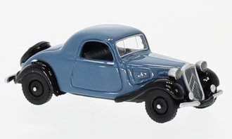 1:87 1936 Citroën Traction Avant Faux Convertible (Light Blue/Black)