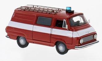 """1:87 1968 Skoda 1203 Half Bus """"Feuerwehr"""" (Red)"""