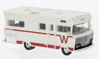 1:87 1973 Winnebago Brave RV (White/Red)