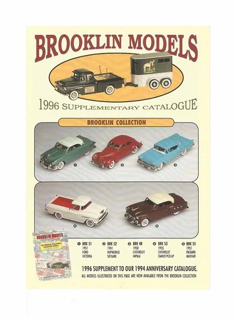 Brooklin Models 1996 Color Supplementary Catalog Flyer