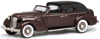 """1938 Buick Limited """"Derham"""" Town Car (Black Leather/Muscovado Poly)"""
