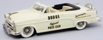"1954 Dodge 500 Royal Convertible (Top Down) ""1954 Indianapolis Pace Car"" (Cream)"