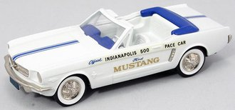 "1:43 1964½ Ford Mustang Convertible ""Indy 500 Pace Car"" (White)"