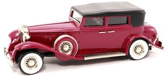 1931 Marmon Sixteen Convertible Sedan (Top Up) (Magenta Purple)
