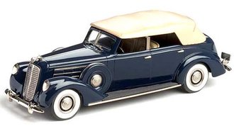 1937 Lincoln Le Baron Convertible Sedan (Dark Blue/Tan)