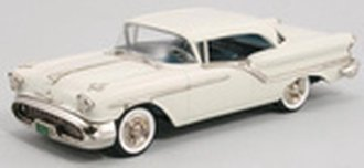 1957 Oldsmobile Super 88 2-Door Holiday Coupe (Victoria White)