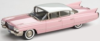 1:43 1960 Cadillac Series 62 6-Window Sedan (Pink/Olympic White)
