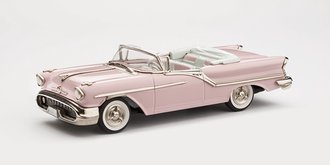 1:43 1957 Oldsmobile Super 88 2-Door Convertible (Powder Puff Pink)