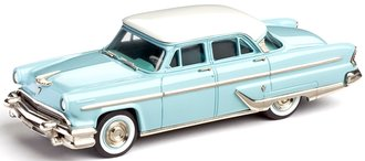 1955 Lincoln Capri Sedan (White/Turquoise)